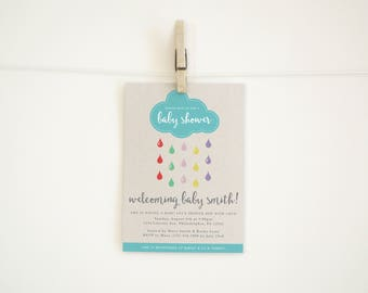 Baby Shower Invitation - Clouds