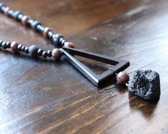 Black warrior necklace