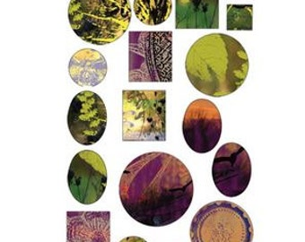 Vintaj Natural Brass Co. Garden Sunset Bezel Sheet