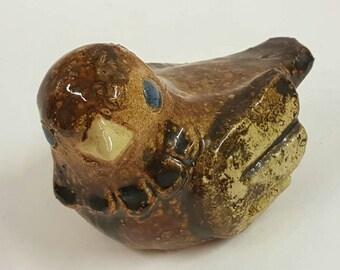 Ego stoneware sculpture bird design by Fischer midcentury Sweden
