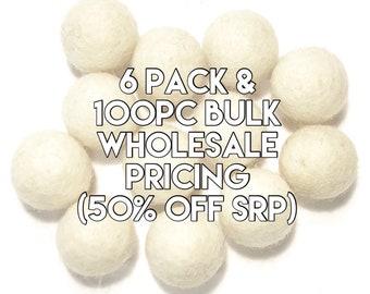 Single Color Pack - WINTER WHITE Felt Balls