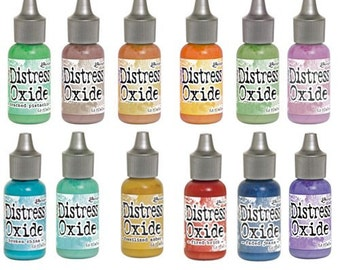 "Tim Holtz Ranger Distress Oxide Reinkers ""I Want it All Bundle #1"" includes all 12 Colors"