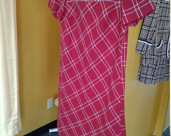 Womens vintage red dress