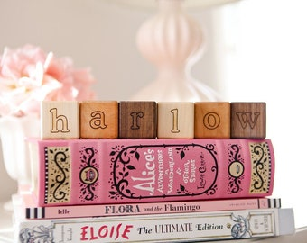 Any Number Personalized Alphabet Blocks - Wooden Alphabet Blocks for baby and children, All Natural by Bannor Toys