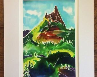 Cathedral Peak Print 11 x 14 (Matted)