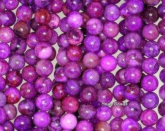 8mm Grapes Jasper Gemstone Purple Round 8mm Loose Beads 7.5 inch Half Strand (90144764-237)