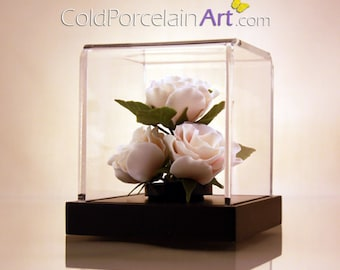 White Roses - Cold Porcelain Art - Made to Order