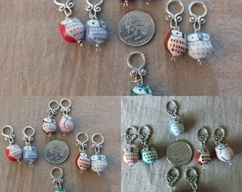 Stitch Markers Owls for knitters