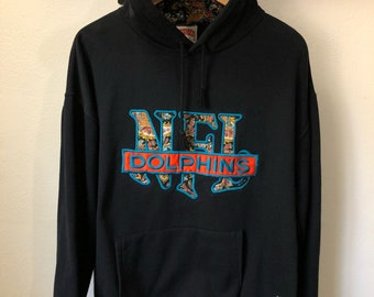 Vintage Miami Dolphins Nutmeg hoodie sweater medium