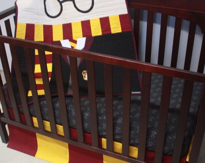 Wizard boy baby bedding--Variant 2--Custom Crib bedding-MTO