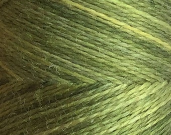 No.82 Chartreuse, Hand Dyed Silk Machine Thread, Individual Spool 120m, Machine Embroidery, Machine Quilting