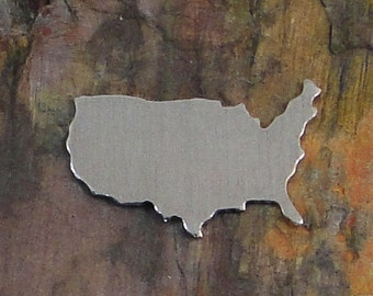 """10 Deburred 18G Aluminum 1 1/2"""" inch X 1"""" UNITED STATES Large Stamping Blanks"""