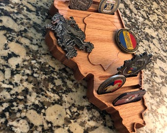 Illinois Shaped Coin Holder