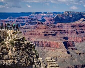 Grand Canyon South Rim Fine Art Print, Arizona Wall Decor, Grand Canyon Photo, Grand Canyon Wall Art, National Park Photo, Red,  Blue