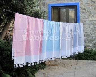 SALE, Set of 4 Turkish Towel, Peshtemal, Fouta Towel, Turkish Bath Towel, Gift For Couple, Handmade Beach Towel, Hammam Towel