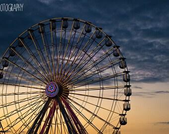 Ferris Wheel Sunset (beach, ocean city, new jersey, gillian's)