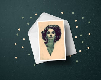 Audrey Horne (Sherilyn Fenn) Twin Peaks Greetings Card