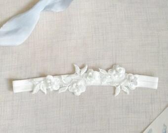 Ivory garter, lace garter set, garter set, flower garter, wedding garter, bridal garter, slim garter, blue garter, lace garter