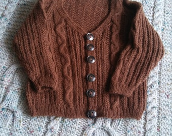 cable and lace baby sweater