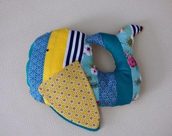 Plush whale Brigitte/Whale plush fabric