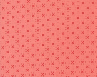 Nest Fabric by Lella Boutiquee for Moda, #5065-20, Rose with darker Rose X, Dark Pink - IN STOCK
