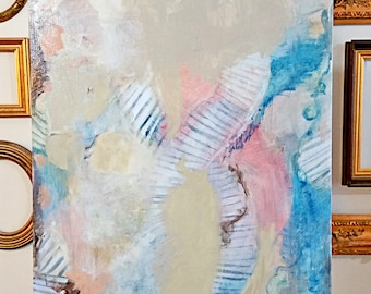 "original 24""x36"" abstract painting by Mary Kaiser"