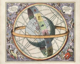 Moon, Astrology, Zodiac map, Astronomy, Zodiac constellation, Moon poster, 222