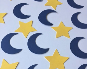 Star and Moon Confetti, Twinkle Twinkle Little Star Party Confetti, Star and Moon Baby Shower Confetti