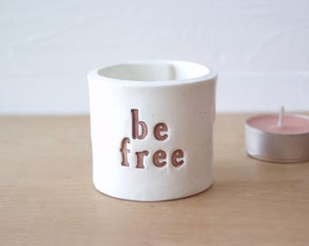 Be Free. 50% Donation To Beagle Freedom Project!  Ceramic Cup. Choose Style, Color.