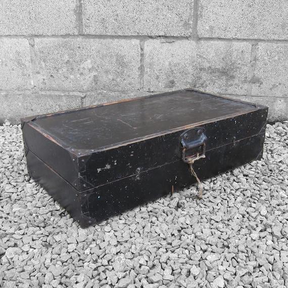 Rustic Pine Box Storage Tools Box Trunk Chest