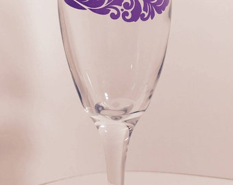 Witch's Hat Custom Designed Champagne or Wine Glass