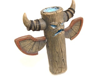 totem figure hearthstone war craft original gift fanart from polymer clay  for real gamer home decor