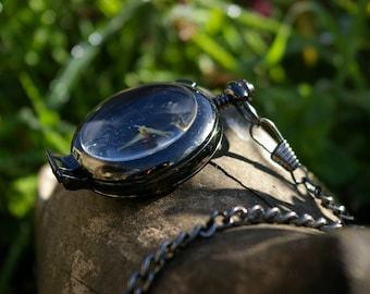 Pocket Watch, black antique bronze
