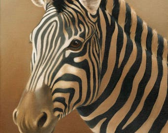 Zebra Blank Inside Greeting Card, Notecards, Set of 5, with Envelopes, A2 Size
