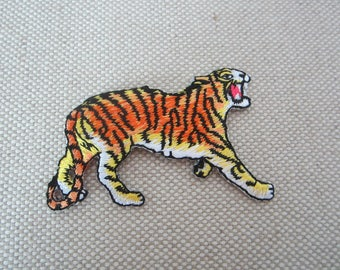 Iron-on Patch, Tiger Patch, Embroidered Patch for Jeans, Backpack