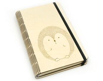 Wooden notebook laser cut 'Hedgehog'