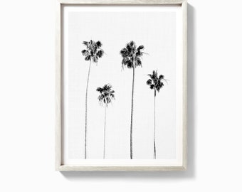 Palm print, palm tree print, palm poster, palm tree poster, palm trees, palms, palm wall art, black and white palm trees, palm tree wall art