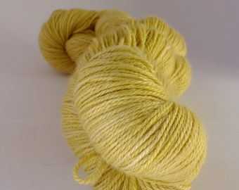 Hand dyed yarn, alpaca, silk and cashmere, naturally dyed, yellow, WASCH/Y/1