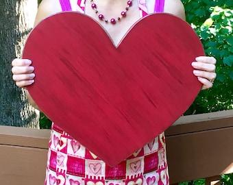 Wood Heart, Wedding - Guestbook - Advice - Shower - Wall Decor - Custom