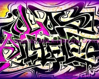 Los Angeles Graffiti Canvas