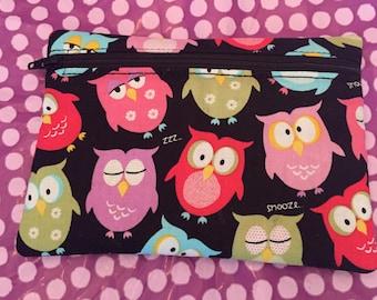 Owl Fabric Zipper Bag