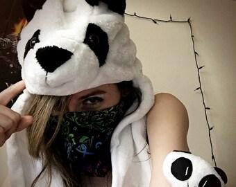 LED Panda Hood