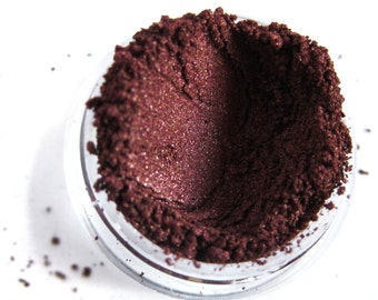LOVESTRUCK Brown Mineral Eyeshadow Vegan Red Dark Maroon Shimmery Iridescent
