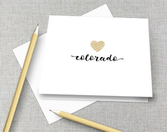 Colorado Boulder Thank You Note Cards / Colorado Boulder Graduation Gift / Colorado Gift / Colorado Stationary / Colorado Stationery