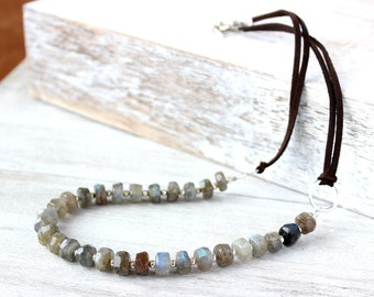 Womens Grey Necklace