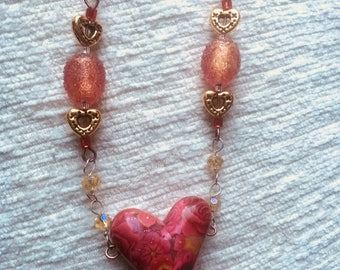 You Have My Heart Femo Necklace by DENISE'S CREATIONS