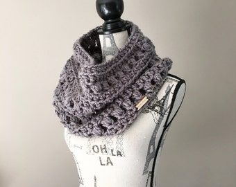 Chunky cowl, Crochet chunky cowl, Infinity scarf