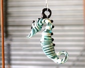 Aqua Blue Sea Horse Ornam...