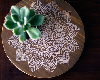 FLASH SALE: White Mandala Printed on Cedar Board