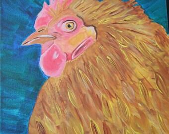 Acrylic Gandhi the hen